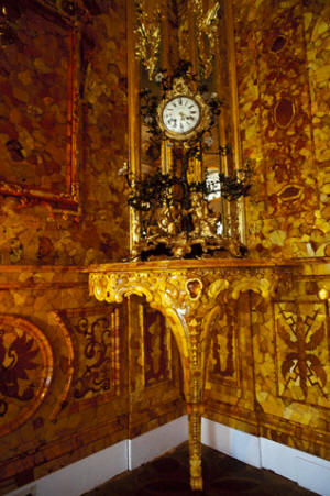 Amber room at the Catherine Palace in Pushkin