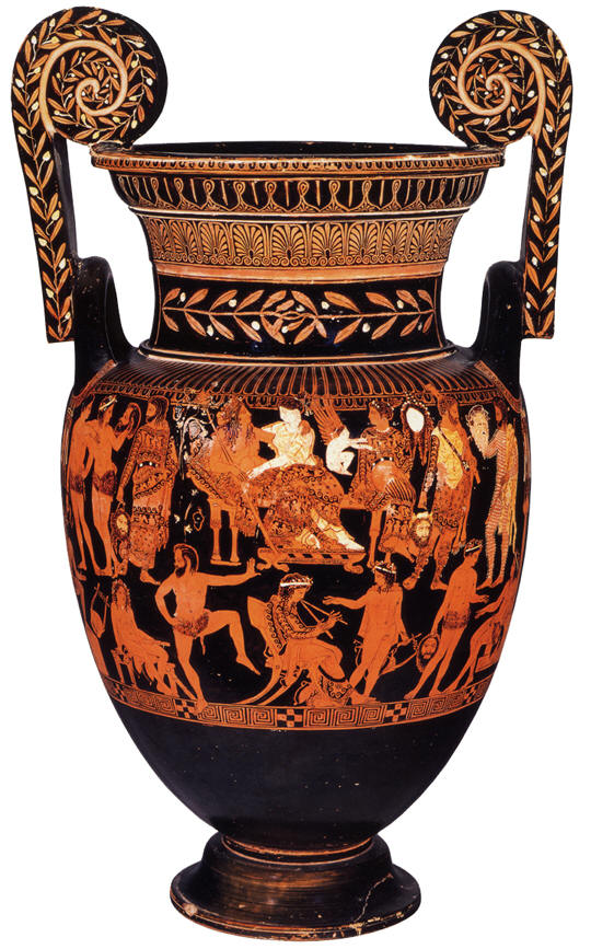 Ariadne and Dionysos, Attic red-figure volute-krater