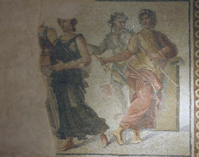 The mosaic of the Marriage of Dionysos and Ariadne