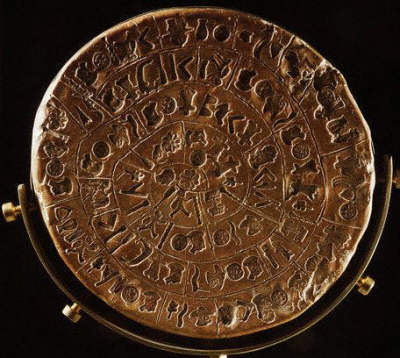 Side A of the Phaestos Disc