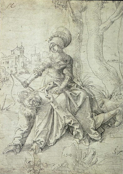 Aristoteles and Phyllis by Hans Baldung  1503