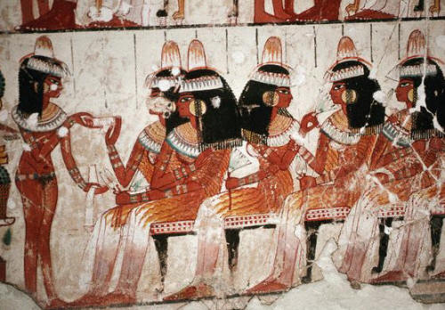 Egyptian Wall Painting From The Tomb of Nakht