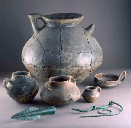 Jugs and Other Artifacts From Pompeii