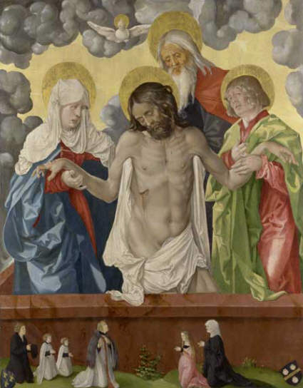 Hans Baldung Grien The Trinity and Mystic Pieta