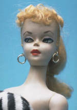 The first Barbie doll produced in 1959