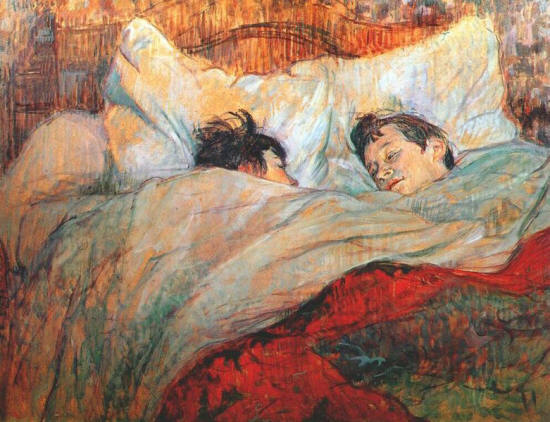 Toulouse-Lautrec Henri de In Bed