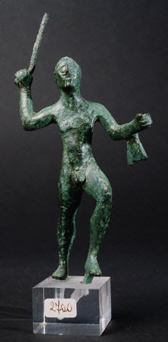 Etruscan Statuette of Hercules Raising His Club