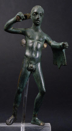 Etruscan Statuette of Hercules with Club