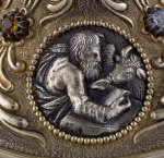 Saint Luke and Ox on the Base from Renaissance European Reliquary