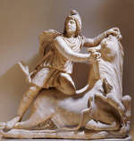 Roman Sculpture of Mithra Slaying the Bull