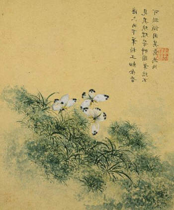 Flowers, from an Album of Ten Leaves (Butterflies) by Zhou Xianji. 1600