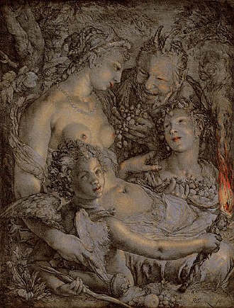 Without Ceres and Bacchus by Hendrik Goltzius