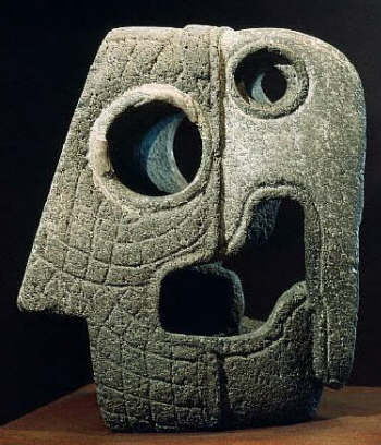 Xochicalco Marker for a Ball Game in the Shape of a Macaw's Head