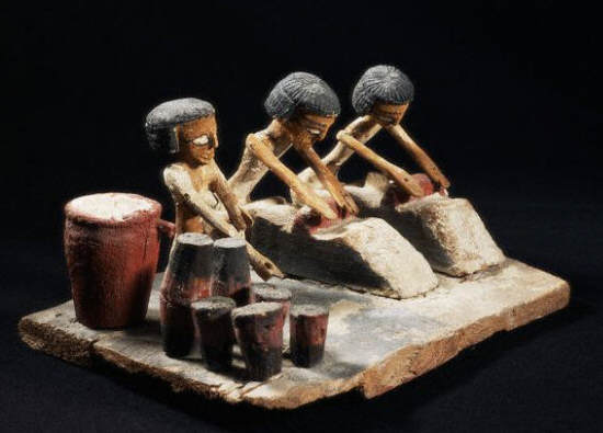 Model Depicting Preparation of Bread and Beer ca. 2050-1786 B.C.