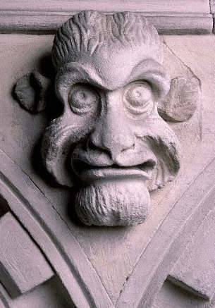 A gargoyle in Temple Church in London