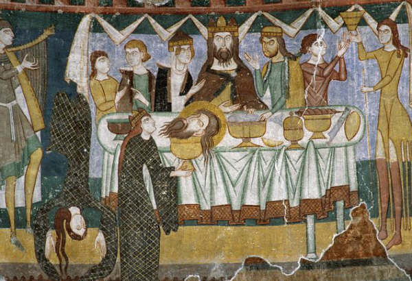 Painting of the Banquet of Herod