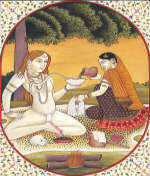 Parvati Offers Bhang to Shiva
