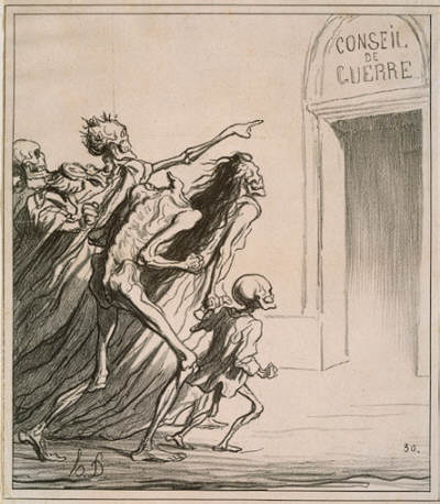 Honore-Victorin Daumier Council of Warr, 1872