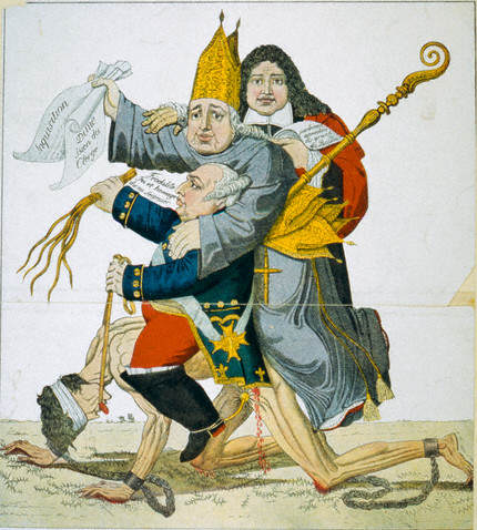 French Caricature on Absolutism of Kings