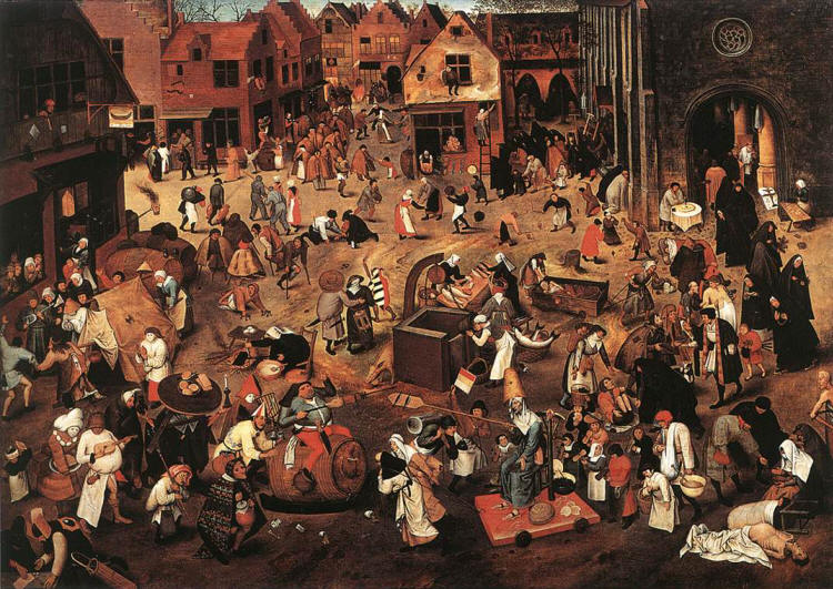The Battle Between Carnival and Lent by Pieter Bruegel the Elder 1559