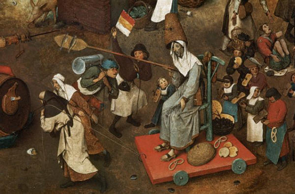 The Battle Between Carnival and Lent by Pieter Bruegel the Elder