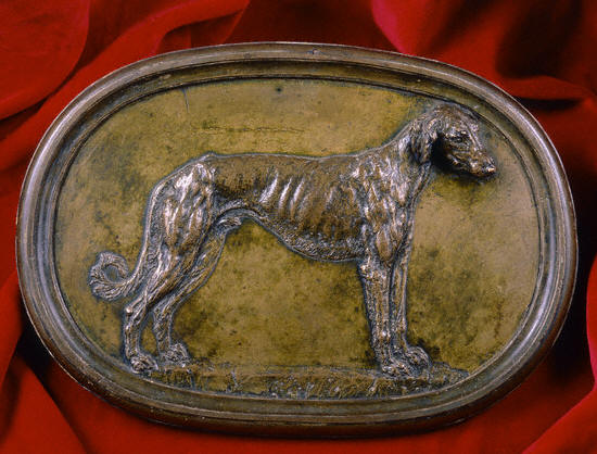 Sunk Relief Sculpture of a Greyhound by Benvenuto Cellini