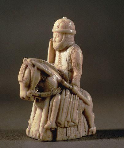 Ivory Carving of Knight from a Chess Set 13 century