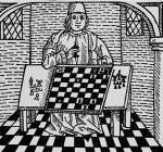 Illustration of a Man Playing Chess 15th century