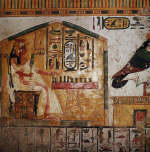 Painting of Queen Nefertari Playing Senet