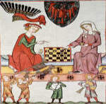 King Otto IV of Brandenburg Playing Chess With a Woman