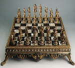 Nineteenth Century German Chess Board and Pieces by the C. M. Weischaubt & Suhne Firm