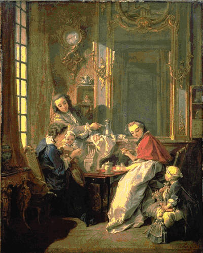 Morning Coffee by  Boucher 1739