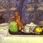 Still Life with a Coffee Pot by Camille Pissarro