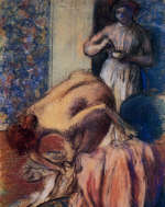 Breakfast after Bathing by Edgar Degas 1894