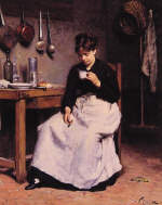 A Cup of Coffee by Victor Gabriel Gilbert