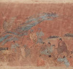 Chinese Painting of Confucius With His Disciples
