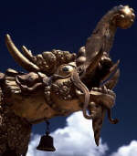 Jokhang Temple Roof Sculpture with Makara Head 7th century