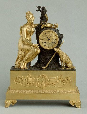 Gilden Bronze Clock with Female Figure 18th с