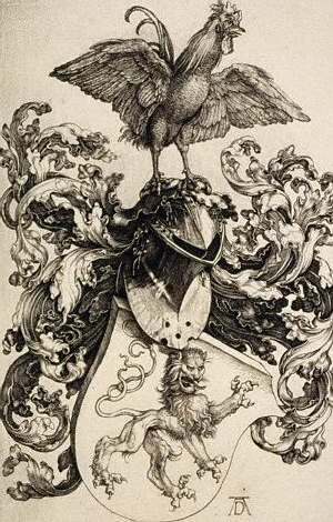 Rooster Coat of Arms by Albrecht Durer 1500