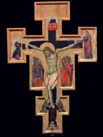 Front View of Crucifix by Palmerino di Guido 13-14th с