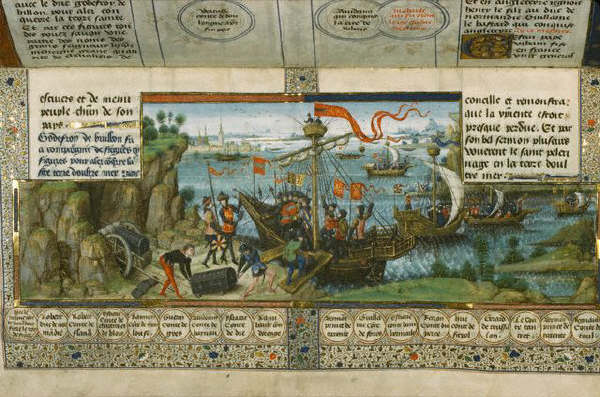 Godfroy de Bouillon Embarks on the Crusade by William Vrelant 1467