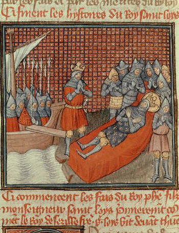 Grandes Chroniques de France: The Death of Saint Louis in Tunis 14th century