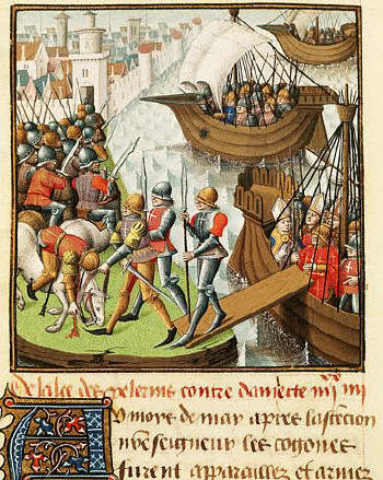 The Landing of the Crusaders in Damietta