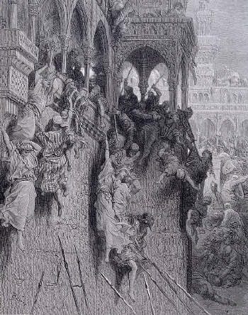 The massacre of Antioch during the first crusade by Gustave Dore