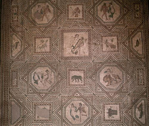Roman Mosaic of Dionysus. Cologne, Germany