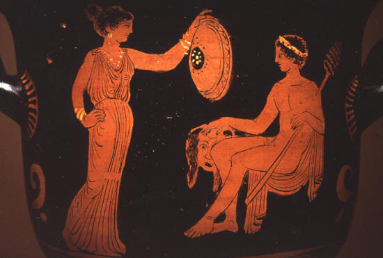 Dionysus and a Maenad
