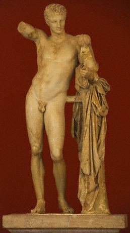 Hermes with Infant Dionysus by Praxitelesca