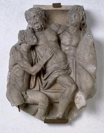 Roman Sarcophagus Fragment Depicting Dionysus