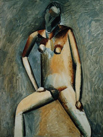 Seated Nude Woman by Pablo Picasso