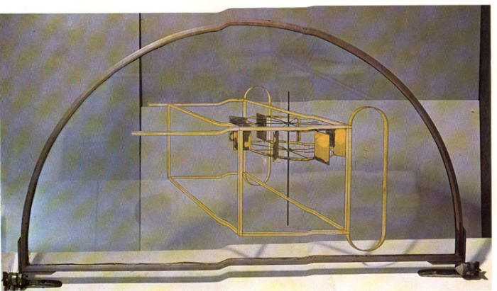 Glider Containing a Water Mill in Neighboring Metals by Marcel Duchamp 1913-15